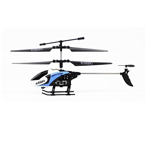 [RC Helicopter] RC 3.5CH Mini Helicopter Radio Remote Control Aircraft Micro With LED Light Toy (Blue)