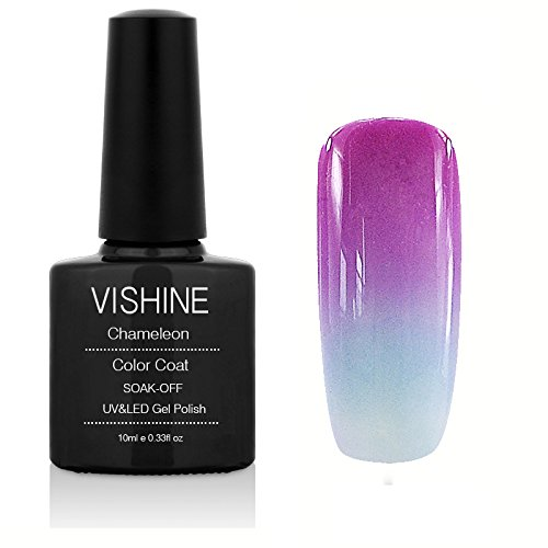 Vishine Soak Off UV LED Temperature Changing Color Gel Nail