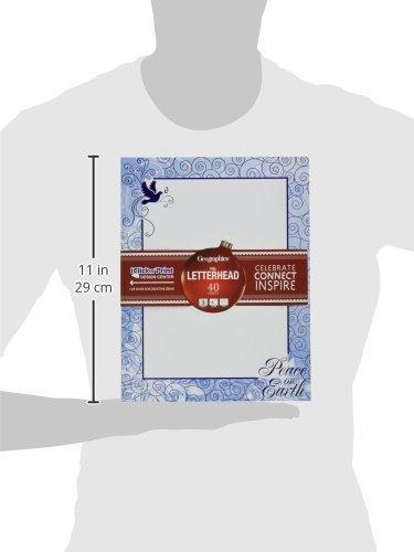 Letter Size White 40 Sheets Stars /& Swirls Design Paper