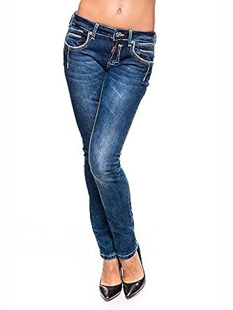 wo kann ich kaufen weit verbreitet Ruf zuerst Rusty Neal Women's Slim Jeans blue blue 29W/34L: Amazon.co ...