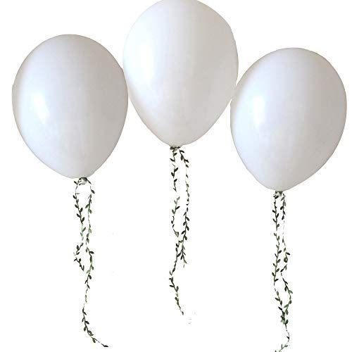 White Balloons 100pcs 12 Inch White Party Balloons Latex Balloons Birthday Balloons Helium Balloons for Christmas Baby Shower Party and Wedding Party- White Color ()