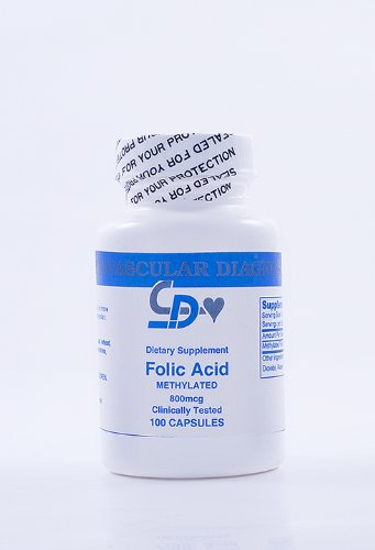 Methylated Folic Acid 800 Mcgs 100 Caps 2 Pack