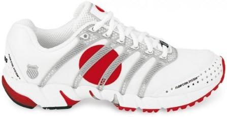 K SWISS K-ONA S Japan Zapatilla de Running Caballero, Blanco/Plata/Rojo, 44: Amazon.es: Zapatos y complementos
