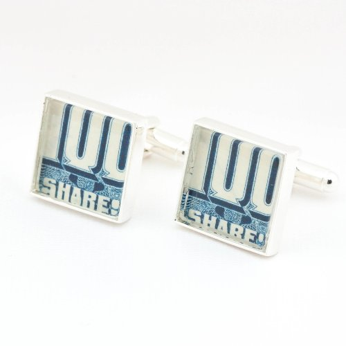 Authentic-Vintage-Blue-Stock-Certificate-Cufflinks