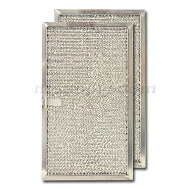 Aluminum Range Hood Filter - 6-5/8'' X 11-5/8'' X 3/8'' Pull Tab, Center - Long Side