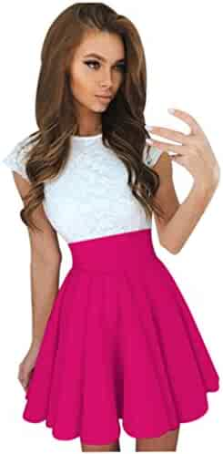 Rambling 2018 Fashion Cool Summer Womens Lace Party Cocktail Mini Dress Ladies Short Sleeve Skater Dresses