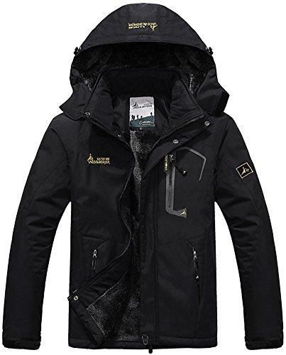Campeggio Sportwear Impermeabile Mountain Uomo Outdoor Sci Rain Giacche Working Windbreaker Coat Mochoose Cappuccio Nero Vello Da Jacket Neve Pesca Con Caccia ZW7Aww