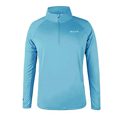 BALEAF Mens UPF 50 Running Outdoor Long Sleeve Sun Protection Performance Athletic Workout Shirt