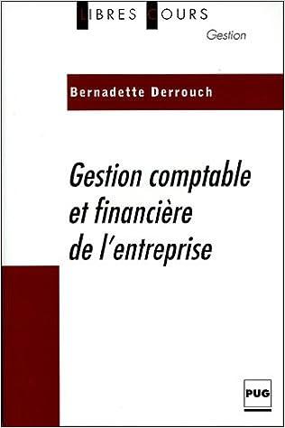 Livre gratuits en ligne Gestion comptable et financière de l'entreprise epub pdf