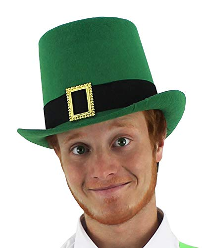 ILOVEFANCYDRESS ST Patricks Day Party Pack of 10 Irish Hats / Wig Perfect for Any Ireland ST Paddys Day Party for Men and -