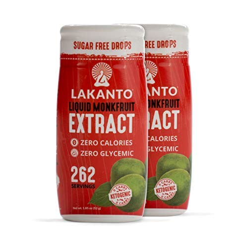 Lakanto Liquid Monkfruit Extract Sweetener, Sugar-Free Keto Drops (Original - 2-Pack) (Best Way To Lick A Woman Out)