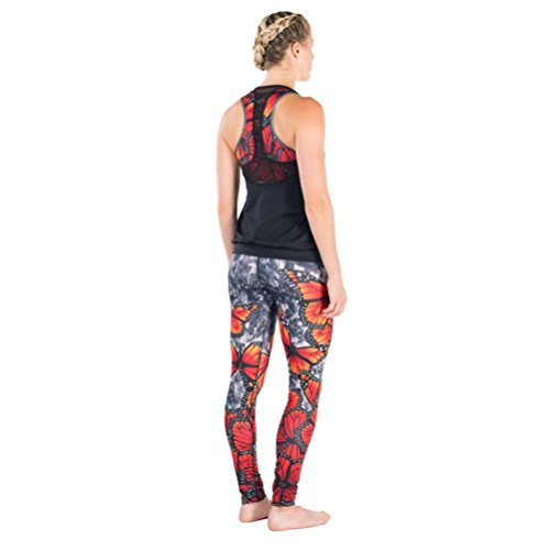 Courage my love Womens Courageous Freedom Butterfly Hot Yoga Legskin Tights from New Zealand. Quick dry and Breathable. 4-6 US by Courage my love (Image #2)
