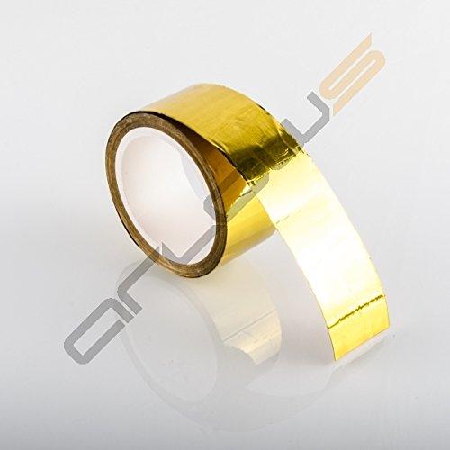 Gold reflektierend // selbstklebend // 50mm Breite 9,2m Hitzeschutzband