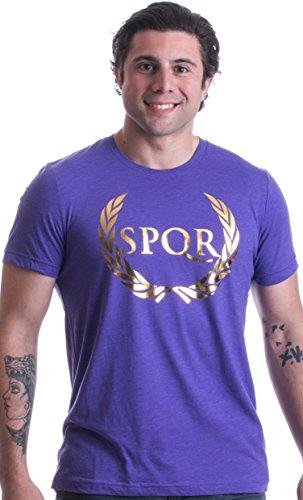 SPQR | Roman, Classics Geeky Humor - Gold Foil Print Triblend Fashion T-shirt