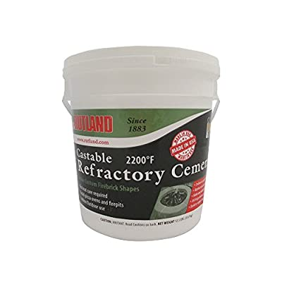 Rutland 12.5 lbs Tub Castable Cement - Mix with Water (Fire Clay) 2200 Degree