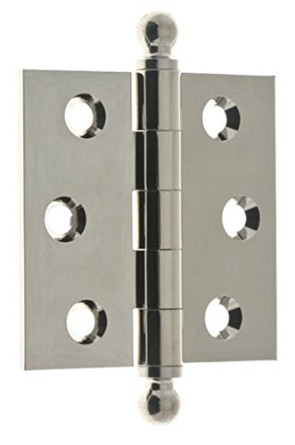idh by St. Simons 80100-014 Professional Grade Quality Genuine Solid Brass Loose Pin Hinges, Bright Nickel, 2-1/2 x 2-1/2-Inch