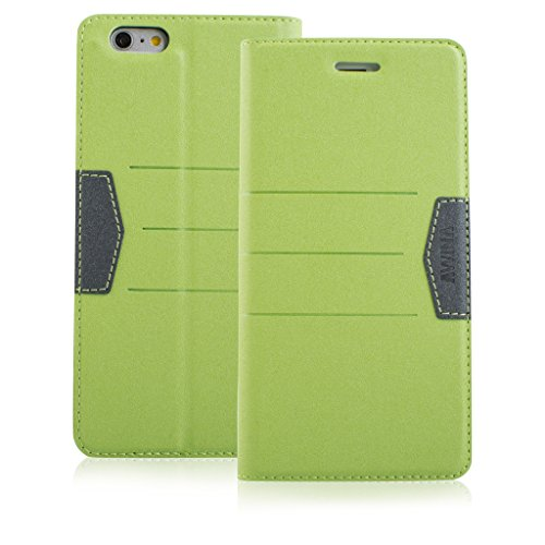 New Style Apple iphone 6 Case cover, Apple iPhone 6 Green Designer Style Wallet Case Cover