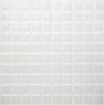 Tic Tac Tiles High Quality Peel And Stick Wall Tile In Square Pearl, pack of 5, White