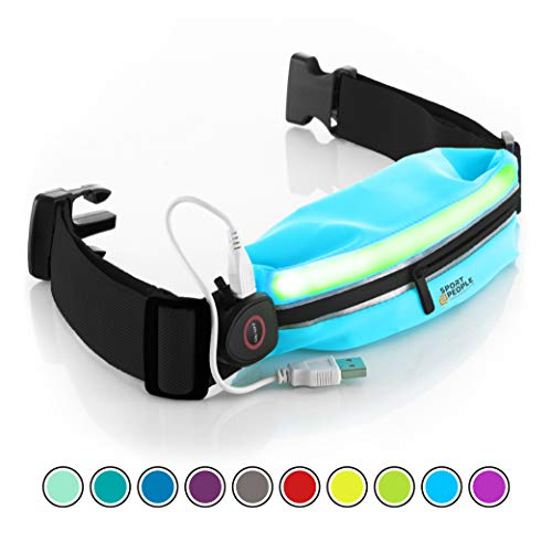 Running Belt USA Patented - Hands-Free Workout Fanny Pack - iPhone X 6 7 8 Plus Buddy Pouch for Runners - Freerunning Reflective Waist Pack Phone Holder - Fitness Gear -