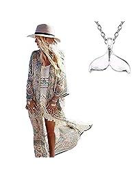 COME2LOOK Women's Bathing Suit Cover up Beach Crochet Bikini Swimsuit Swimwear