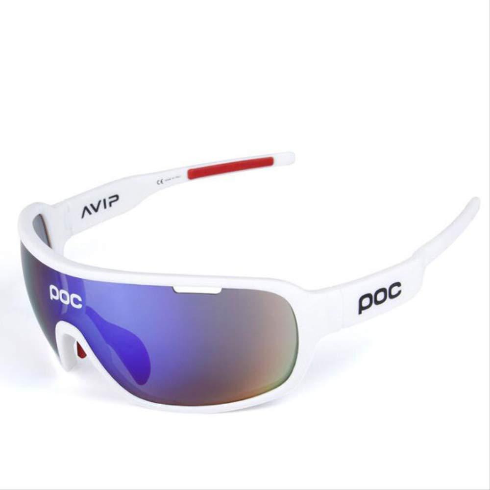 SMEI Polarizado 5 Lente Ciclismo Gafas De Sol Uv400 Deportes Al Aire Libre Gafas MTB Monta/ña Bicicleta Ciclismo Gafas Gafas De Sol De Bicicleta