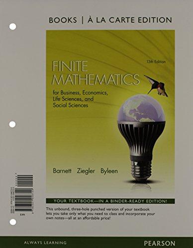 Finite Math.F/Bus,Econ...(Ll) W/Mymath.