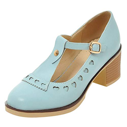 Chaussures Escarpins Femmes Chunky Coolcept Salomés Bleu BSZwnqA