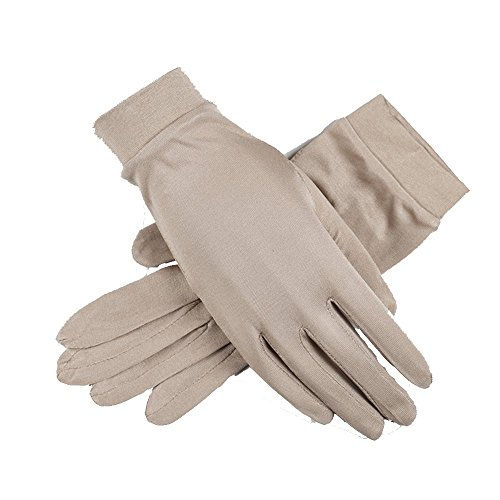 lberry Silk Gloves Liner Glove Inner Ski Bike Cycle Gloves (Khaki) ()