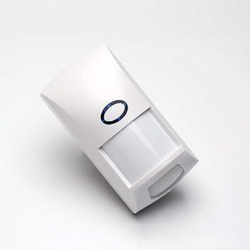 Sensor de Alarma inalámbrico 433.92MHz,Sensor de Movimiento PIR Detector de Alarma Código Coincidencia LED Indicador Tipo de Alarma inalámbrico Sistema de ...