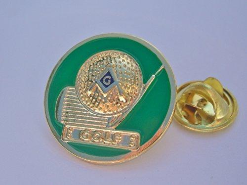 Masonic Lodge Golf Club Ball Golfing Iron Tournament Sport Lapel Pin