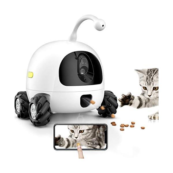 obexx Smart Pet Camera,Pet Companion Robot,Dog Treat Dispenser,Movable 1080P Full HD WiFi pet Camera Night Vision, 2way…