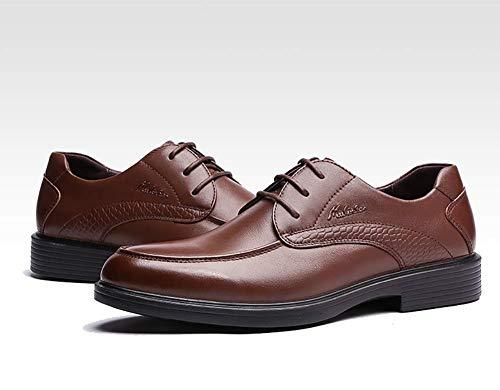de los hombres de para de los Mocasines para hombres negocios Zapatos boda vestido de de cordones la color formales MARRÓN cuero hombres arriba Zapatos Derby 9 US 8 Marrón tamaño los cómodos de de del Rx0HwOq
