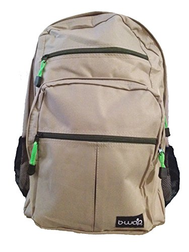 Backpacks With a Purpose -18' Deluxe School Backpacks - Tan and Green