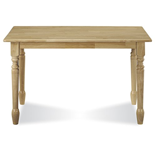 International Concepts T01-3048 30 by 48-Inch Solid Wood Top Table, Natural ()