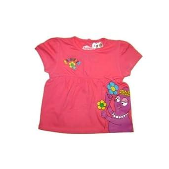 f66d55bd8a5e8 Barbapapa - Tee shirt-Barbapapa-Bébé fille-Rose Fushia Taille - 24 mois