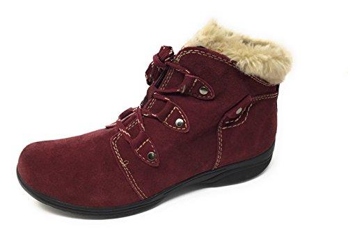 Faux Earth Women's Ankle Boots Merlot Cooper Trim Fur Origins qPFtwP7