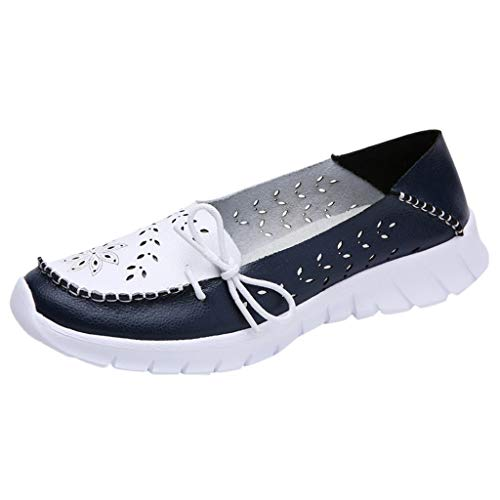 Toimothcn Loafers for Women Causal Slip on Moccasin Walking Driving Comfortable Flat Shoes (Dark Blue,US:6.5) ()