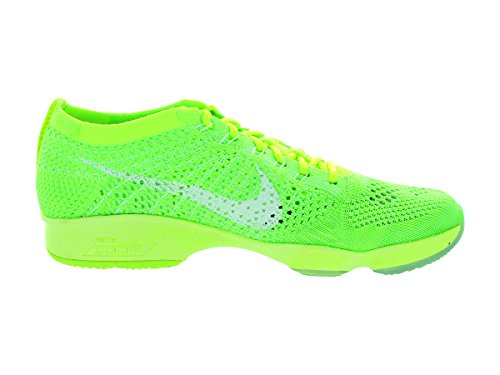 Nike Femmes Zoom Fit Agilité Basse Top Lace Up Baskets Volt / Blanc / Elctrc Grn / Vpr Grn