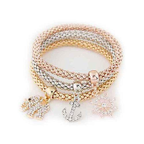 spyman 3PCS Set Crystal Bracelets & Bangles New Gold for sale  Delivered anywhere in USA