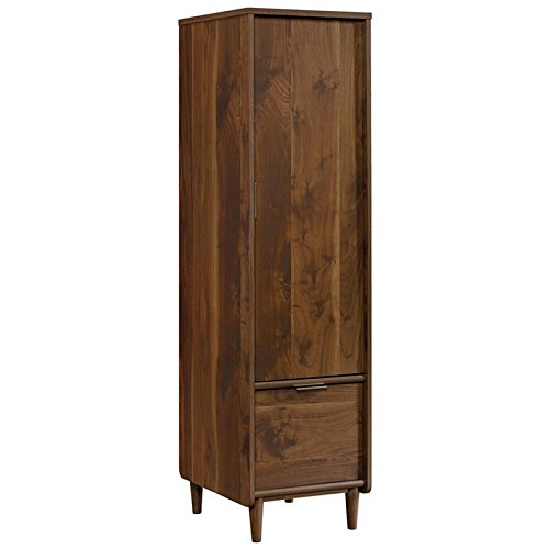 "Sauder Clifford Place Storage Cabinet with File, L: 15.51"" x W: 18.50"" x H: 58.27"", Grand Walnut Finish"