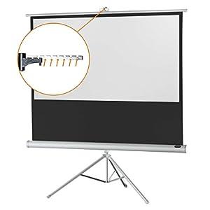 "celexon 60"" Tripod Projector Screen Tripod Economy, 52 x 30 inches viewing area, 16:9 format, White edition"