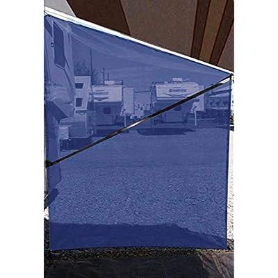Tentproinc RV Awning Sunshade Screen ● Navy Blue Mesh Sun Shade ●Block Sunshine from Patio Side Direction ●Motorhome Camping Trailer UV Sunblocker ●Canopy Sunscreen-3 Years Lasting: Automotive