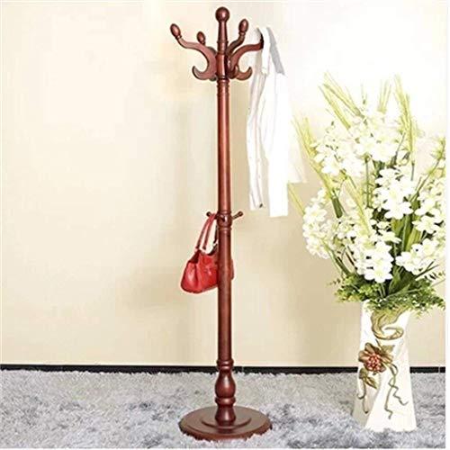 - ZHHL Coat Rack,European Style Wardrobes Solid Wood Floor Standing Hanger Bedroom Entrance Hangers (Color : B)