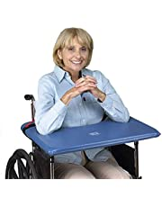 SkiL-Care Bariatric SofTop Laptray, fits 20-22 inch Wheelchair, Blue Vinyl