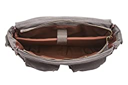 Sweetbriar Classic Laptop Messenger Bag, Gray - Canvas Pack Designed to Protect Laptops up to 15.6 Inches