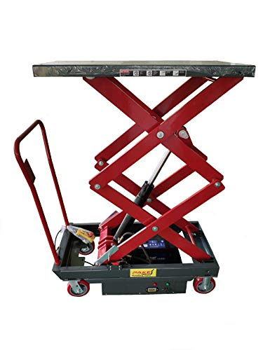 Pake Handling Tools - Electric Double Scissor Lift Table, 2000lbs Capacity, Platform Size: 40