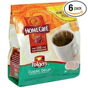 Folgers Home Cafe Coffee Classic Roast Decaffeinated 16OZ (Pack of 18)