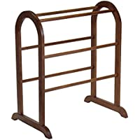 Frenchi Home Furnishing Blanket/Quilt Rack in Antique Walnut Finish