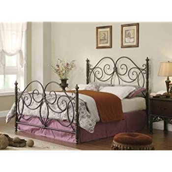 coaster home furnishings traditional queen bed caramel headboardfootboard only - Iron Queen Bed Frame