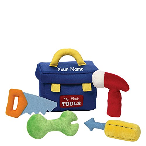Personalized GUND My First Tool Box Plush Stuffed Baby Playset with Mini Accessories